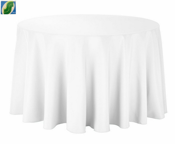 10 Free Shipping White Cheap Round Tablecloths For Weddings 108'' round polyerster(China (Mainland))