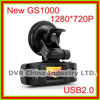 New 2013 Cheapest GS1000/GS1000B Car DVR video camera Recorder HD1280*720P 4 IR LED 120 View Angle No GPS G-sensor Free Shipping