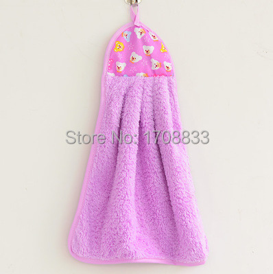 Free shipping household goods super-absorbent towel holders coral velvet purple(China (Mainland))