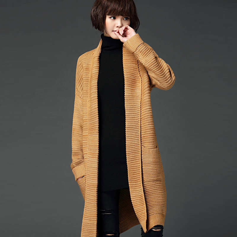 2015 Fall Ladies Elegant Coat Tops Luxury Long Sweaters Cardigans Casual Sweet windbreaker Blouse Cool Style Y1012-137D