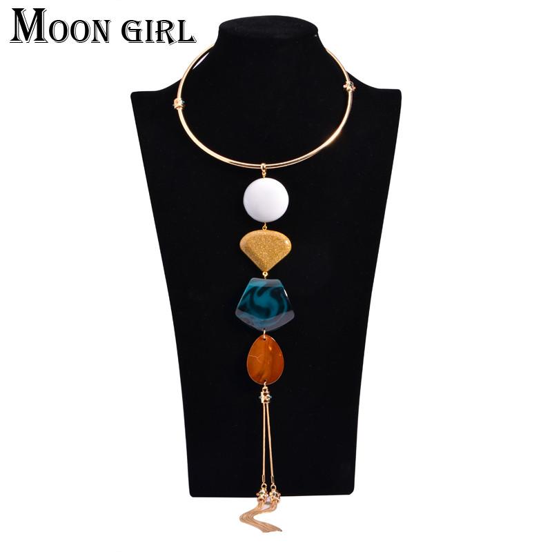 Макси кисточкой ожерелья и pendantss 2016 мода ожерелье ювелирных дисплей-большой марка крутящий момент себе длинное ожерелье для женщин
