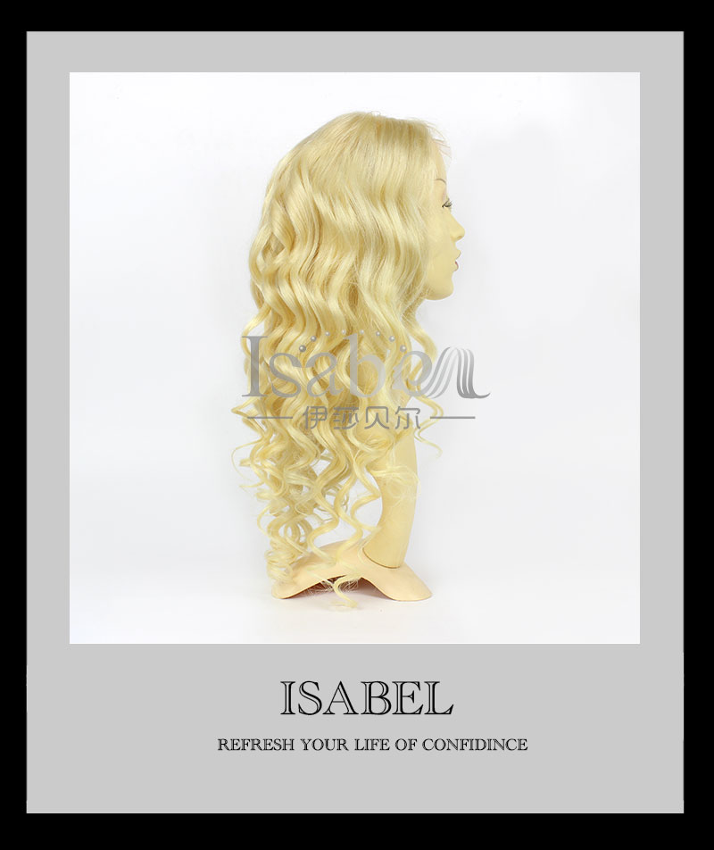 Blonde Human Hair Wigs For White Women 130 Density Virgin Russian Blonde #613 Wig Body Wave Human Hair Wigs<br><br>Aliexpress
