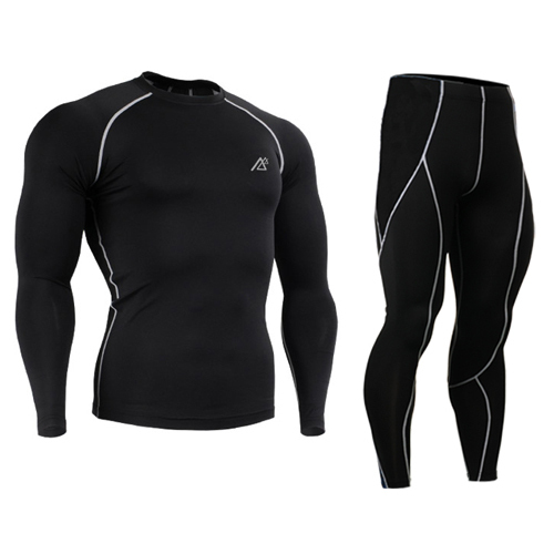 All-in-One Compression Base Layer Male Shirt Men's Shorts Sleeve Jiu Jitsu Fitness Gym Running Tights & Leggings Plus Size