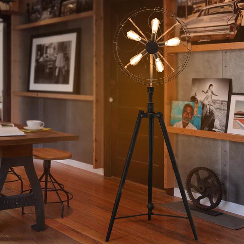 Shop Floor Design Creative Design Fan Lamp Floor