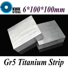Buy 6*100*100mm Titanium Alloy Sheet UNS Gr5 TC4 BT6 TAP6400 Titanium Ti Plate Industry DIY Material Free for $29.90 in AliExpress store