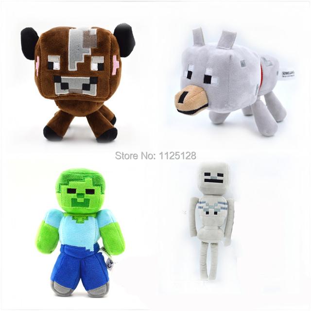 4 шт / комплект наполненный плюш игрушка Minecraft кукла для детей дети мальчик игрушки год подарок