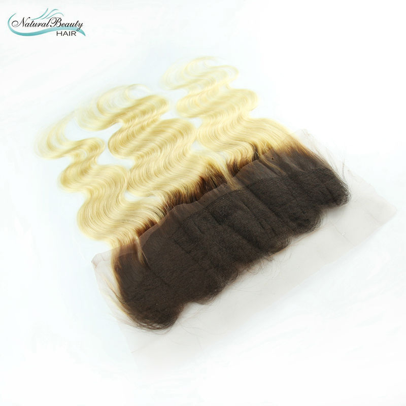 Best quality Brazilian 13x4 ombre lace frontal closure swiss lace body wave hair dark root blonde hair closure Free Shipping<br><br>Aliexpress