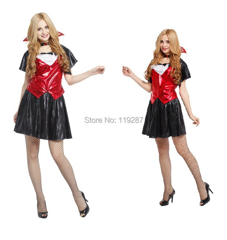 New arrive women halloween costumes, adult cute vampire ...