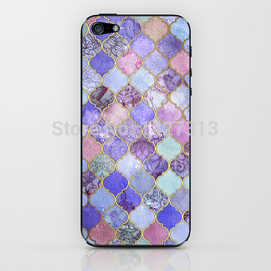 mauve decorative moroccan tile pattern cases for iphone 4s 5s 5c 6 6s plus ipod 4 5 6 samsung s2