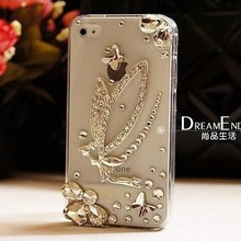 luxury bling diamond rhinestone Crystal protective case shell cover For iphone 4 iphone 4s case(China (Mainland))
