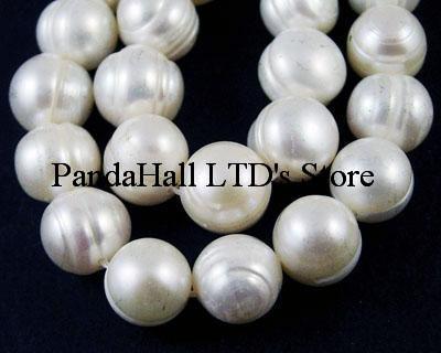 415 inch/strand Grade B Pearl Beads Strands, Polished, Potato, Natural Color, White, 8~9mm diameter, hole: 1mm, - PandaHall LTD's store