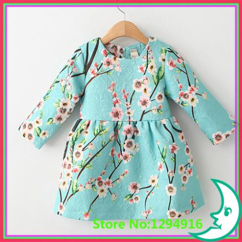Long Sleeve Girl Dress Animal embroidered Children Princess 2014 Brand New Winter Casual Kids Baby Girls Dresses - Fashion Zoon No.1 store