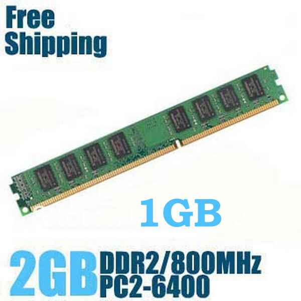 Wholesale NEW 1GB 2GB DDR2 800 ram in memory compatible with DDR 2 667MHz / 533MHz memeoy ram DDR2 desktop in memory PC2 6400(China (Mainland))