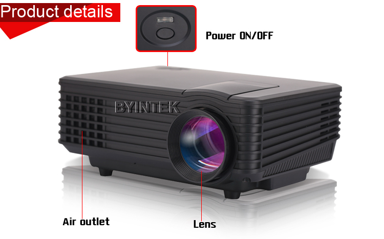 2016 brand byintek bt905 mini home theater video lcd tv for Smallest pico projector 2016
