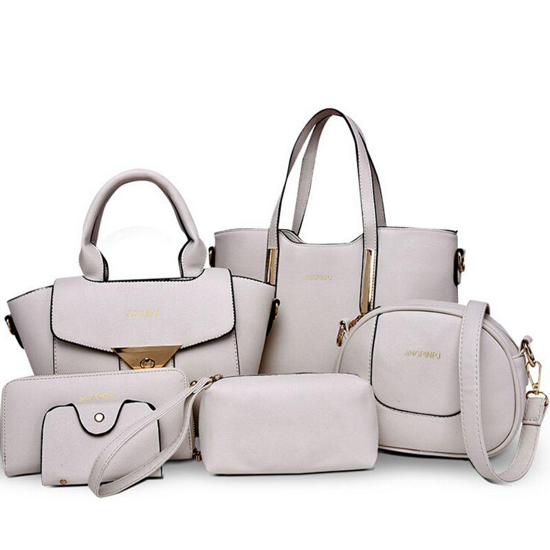 6 PCS/Set Women Bag Pressed Composite Bag Women Messenger Bags Shoulder Bag PU Leather Women Handbags  B40-533<br><br>Aliexpress