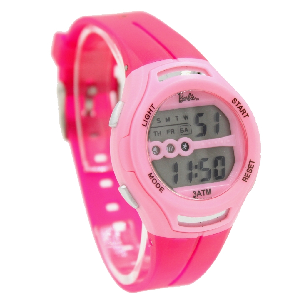 DW434D Chronograph Date Alarm Pink Bezel Water Resist Ladies Women Digital Watch(China (Mainland))