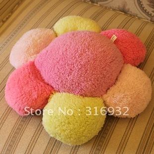 J2 Coral fleece cushion sierran multicolour petal plush cushion plush pillow, 1pc