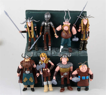 8x Dreamworks How to Train Your Dragon Astrid Gobber Fishlegs PVC Figure Set