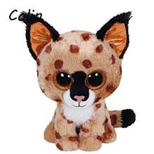Ty Beanie Boos Original Big Eyes Plush Toy Doll Child Birthday Husky Cat Owl Unicom  Baby Foxy Toy 15cm WJ159(China (Mainland))