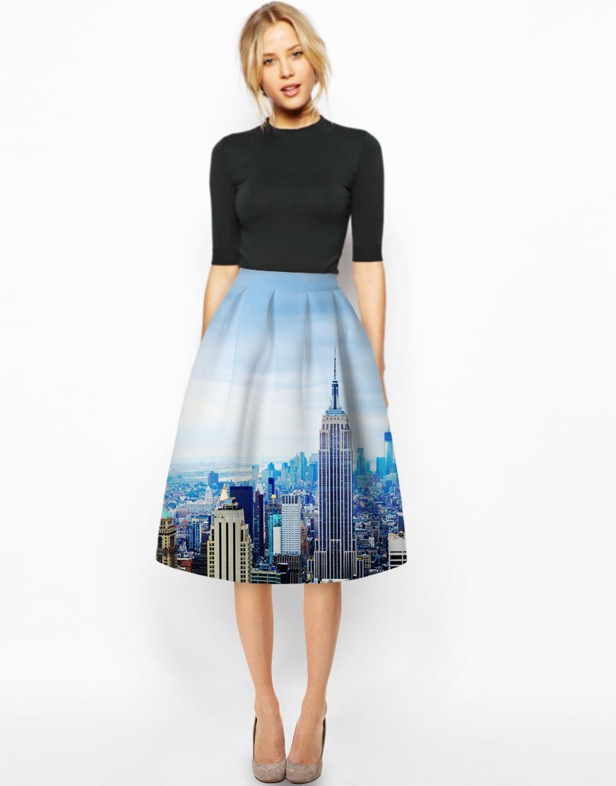 2016 s european style designer flare pleated