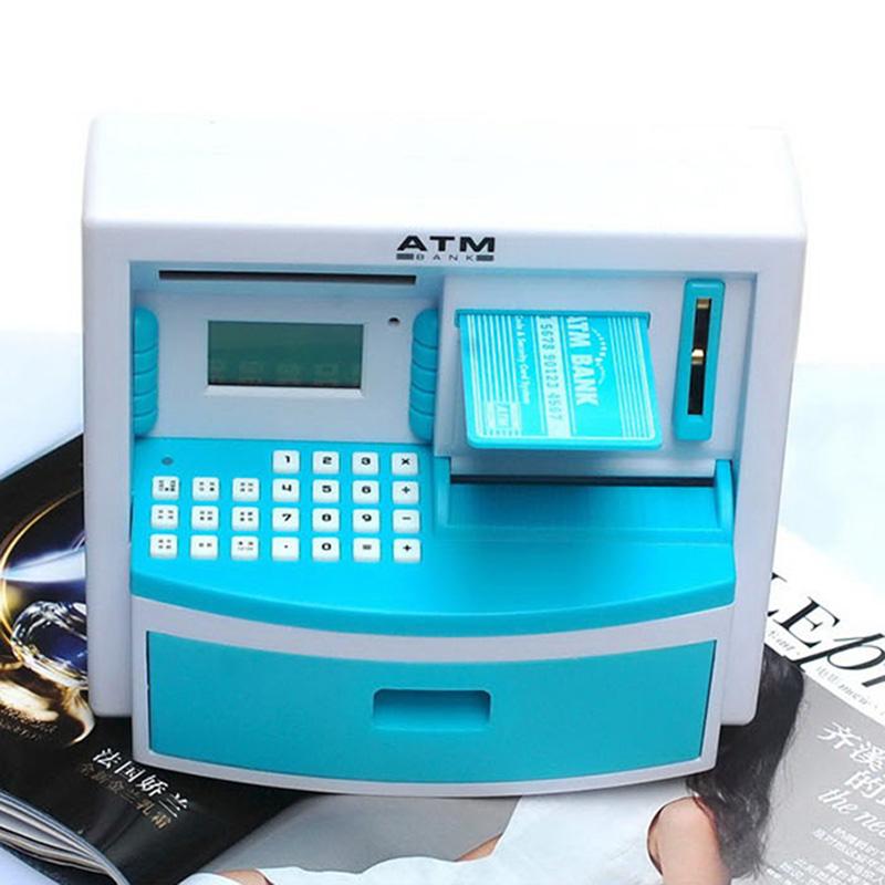 Multi-Functional Live Voice Children Money Storage  Cash/ Coin ATM  Saving Bank Machine Cute Mini Creative Piggy Bank