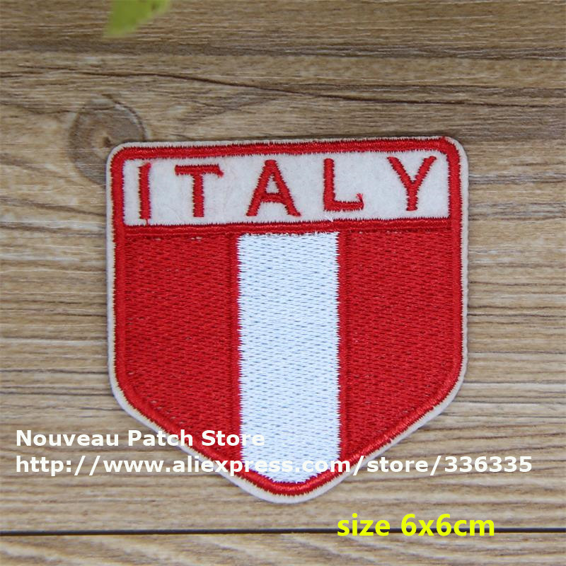 New arrival 10 pcs ITALY flag embroidered Iron On Patch TS garment cell phone Appliques accessory free shipping(China (Mainland))