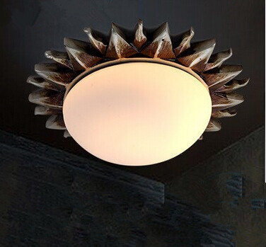 Фотография Vintage Sun LED  ceiling Light Resin Glass Electroplating,E27,Bulb Included,Also can be used for led  lamps