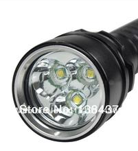 4000 Lumen 30 Watt 3x CREE XML T6 LED Tauchen Taschenlampe Wasserdichte 100 MT Tiefe Unterwasser-Taucher LED-Blitzlicht, freies Verschiffen(China (Mainland))