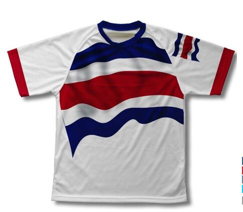 Haeli mark costa rican flags biking shirts men and women(China (Mainland))