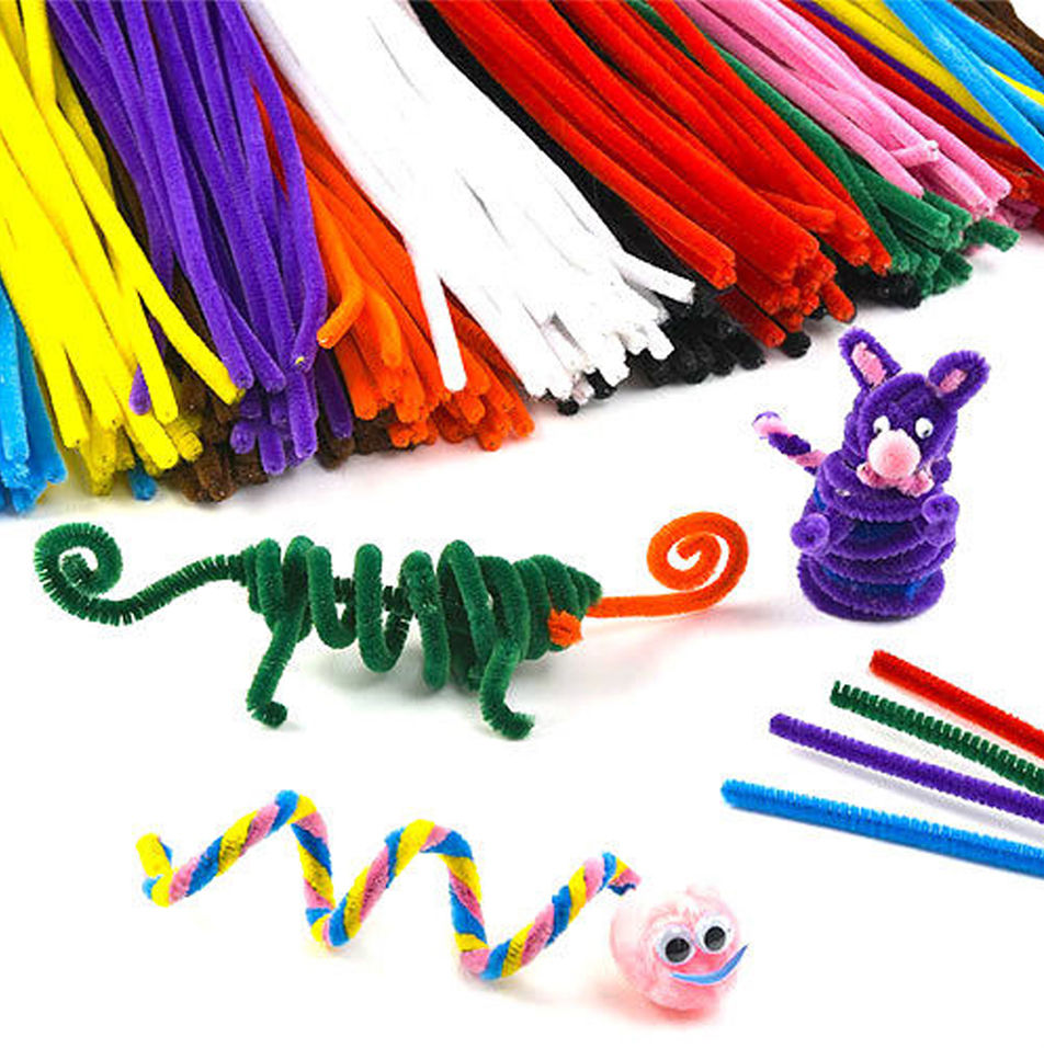 100pcs montessori materials chenille children educational for Craft toys for kids