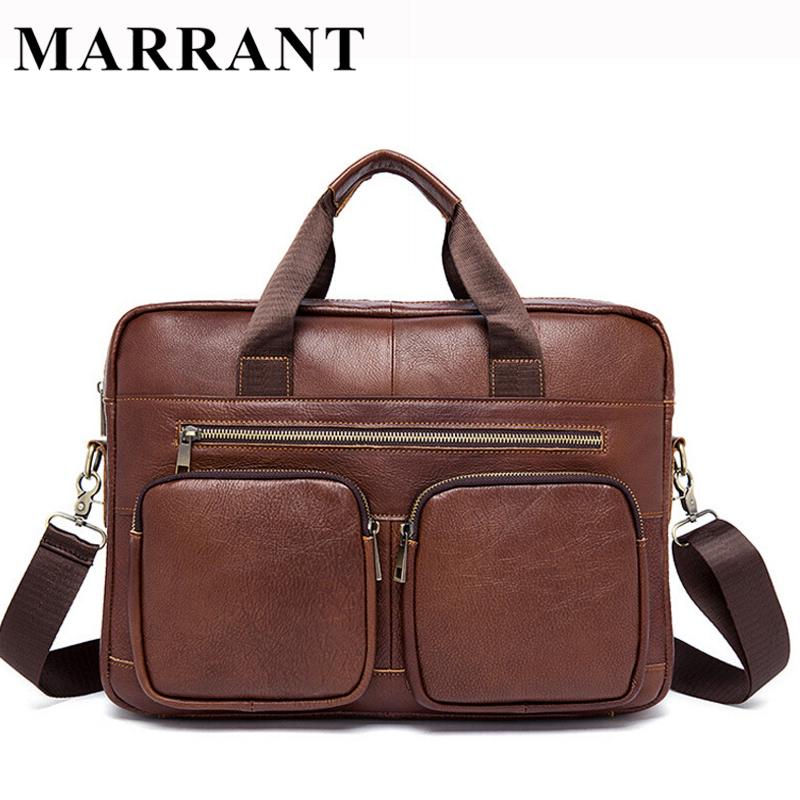 Genuine Leather Men bag cowhide leather men's Briefcase