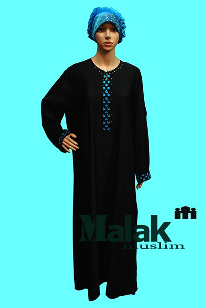 Islam Abaya Dress Multi Color  Middle East muslim clothes long-sleeve patchwork Islamic dress Robe Malaysia Indonesia Style