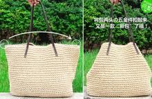 2015 New Women s Shoulder Messenger Bags Newest Straw Bag Holiday Straw Bag Women Shoulder Beach