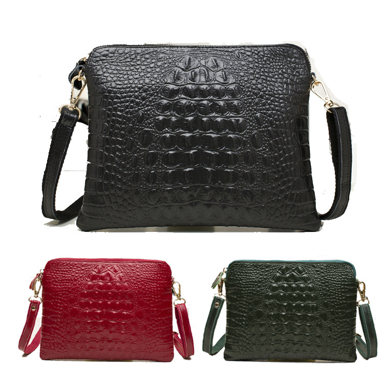 Small manufacturers, wholesale leather handbag shoulder messenger bag influx of new crocodile Ms. Clutch clutch bag new(China (Mainland))