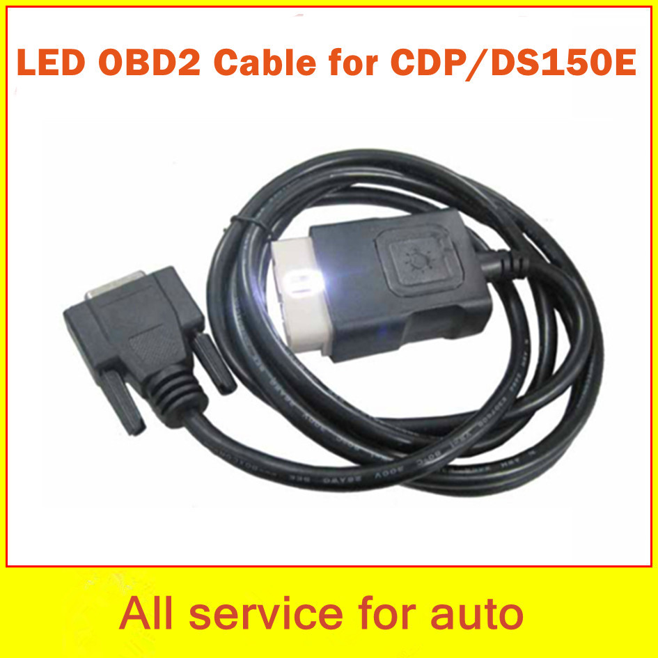 LED Cables CDP Pro OBD2 OBDII Diagnostic tool TCS Plus D-ELPHI DS150E - welcome to freyr's store