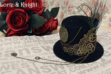 Steampunk Gear & Chain Little Top Hat