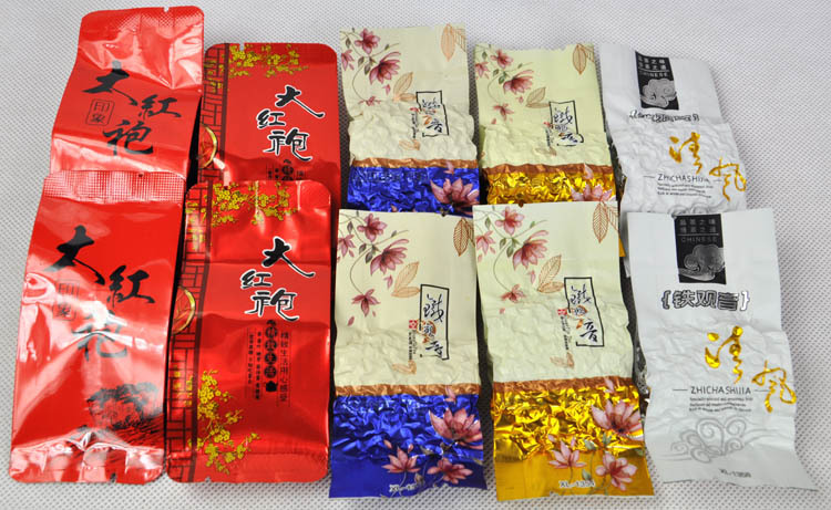 5 Kinds Flavours Oolong Tea, Different Wulong including ,Dahongpao, Tieguanyin, Milk Tea, Peach Oolong, Tea, Mo5,Free Shipping(China (Mainland))