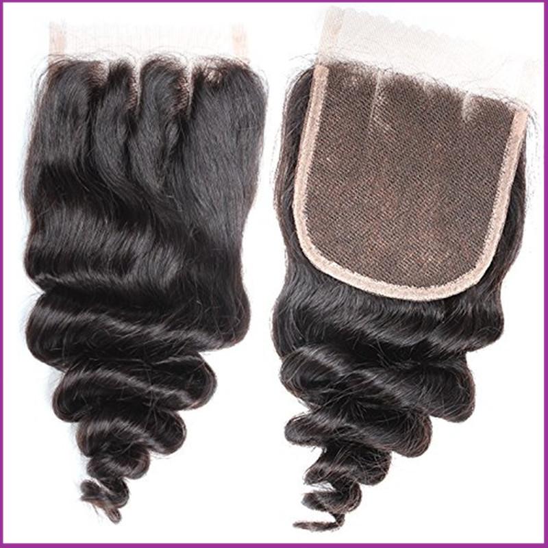 7A Best Vi rgin Brazilian Closure Body Wave Brazilian Lace Closure Bleached Knots Closures Free Part Vir gin Hu man Hair Closure