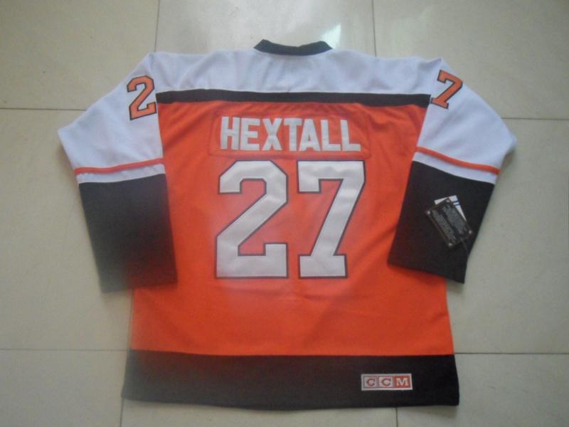 Mens Philadelphia Flyers Jersey Free Shipping Ice Hockey Jersey Hot Sale #27 Ron Hextall Orange J1029<br><br>Aliexpress