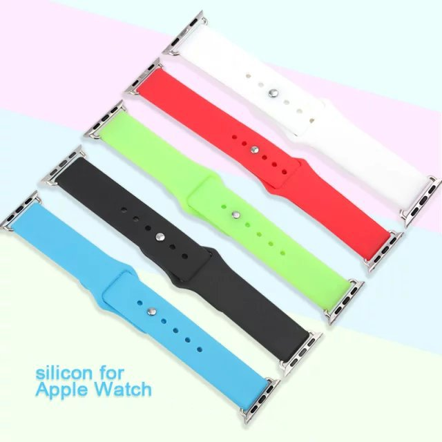 Soft watchband Strap Bracelet Band Silicone Fitness Replacement For Apple Watch iWatch 42mm not for Apple Watch Sport or Edition(China (Mainland))