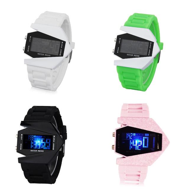 Zegarek dziecięcy designerski aircraft cyfrowy dwa kolory