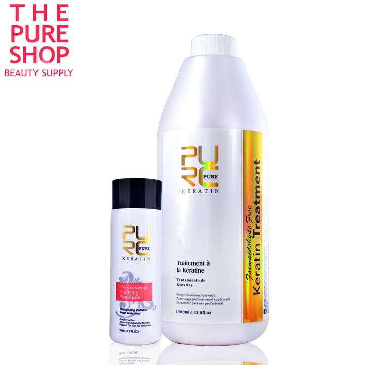 Formaldehyde free brazilian keratin hair treatment 1000ml high quality keratin hair straightening products good effect(China (Mainland))