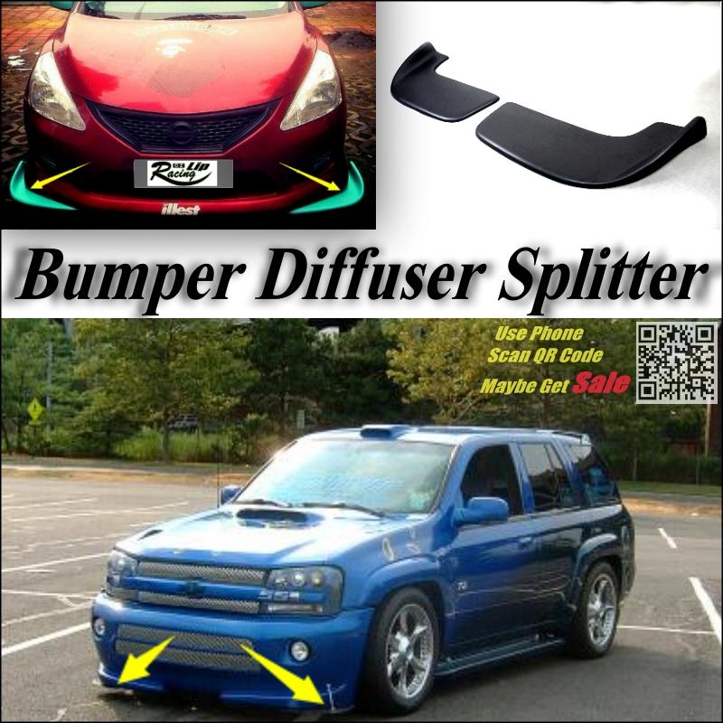 Car Splitter Diffuser Bumper Canard Lip For Chevrolet TrailBlazer Tuning Body Kit / Front Deflector Flap Chin Fin / Car Reduce<br>