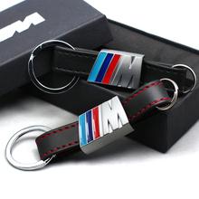 Car Leather Key Rings Fob Holder Car Logo Keychain for BMW M1 M3 F10 F20 F30 X1 X3 X6 116I 118I 730li