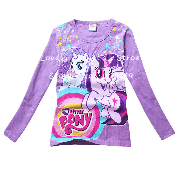 2015 spring/autumn cartoon little top clothes girls 100%cotton children's tee shirts retail - Lovely Angel's store