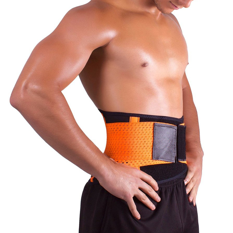 Waist Xtreme Power Belt Waist Trimmer With Sample Of Sweat Workout Lumbar Support Brace Belt Corrector Posture Orange Y123(China (Mainland))