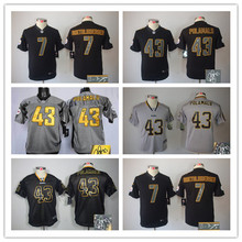 Signature youth Pittsburgh Steelers children 32 Franco Harris 83 Heath Miller 84 Antonio Brown Embroidery Logos camouflage(China (Mainland))