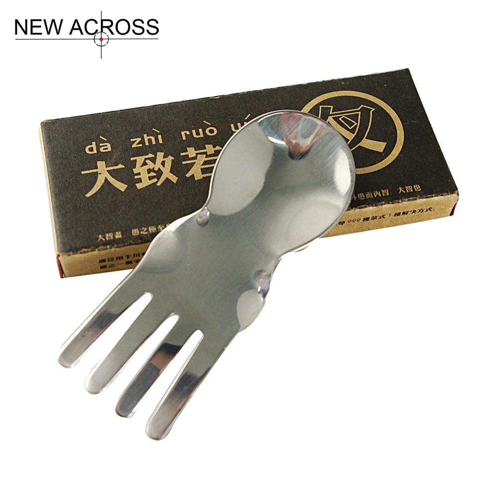 Buy Gohide 3pcs/set Fish Fork Spoon Stainless Steel Spoon Tableware Birthday Gift Multi-Functional Spoon Fork Knife Tableware cheap