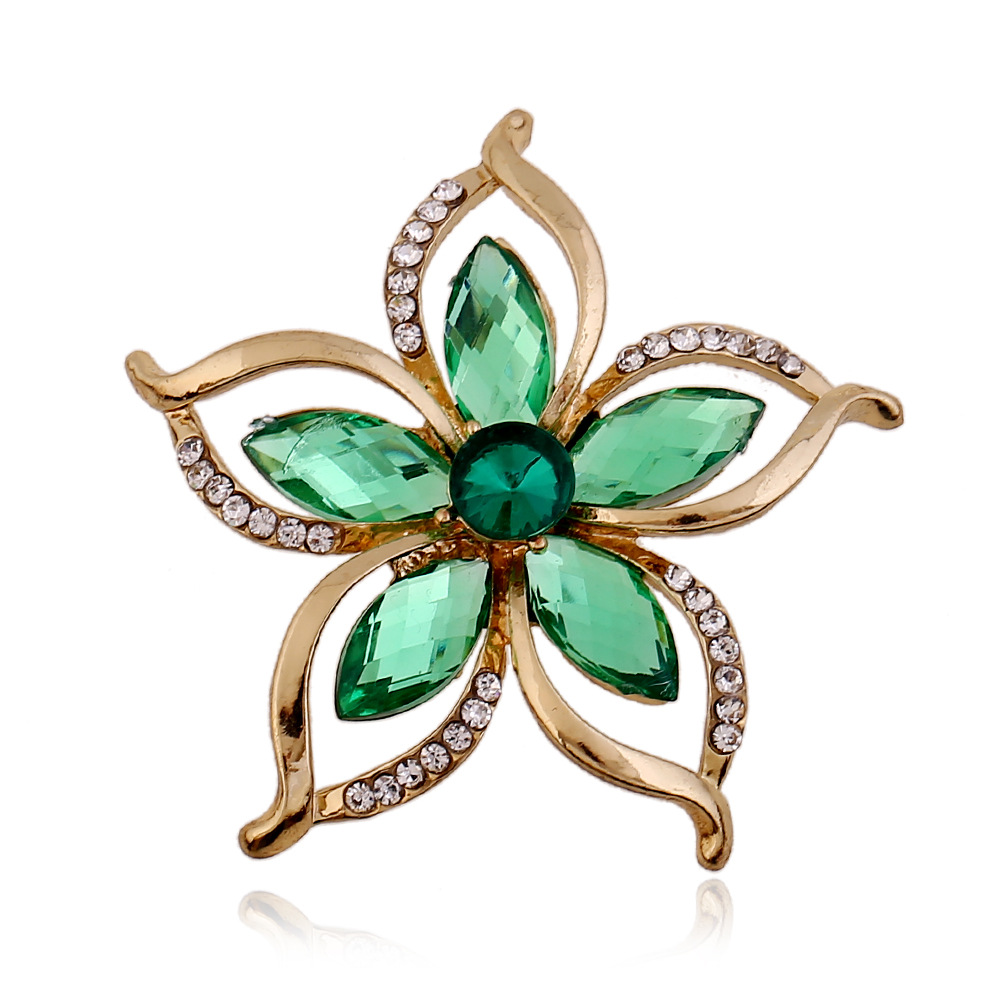 2015 new Fashion Wedding Redbud flowers brooch garland Broches Crystal Cheap Woman Brooches Pins Wholesale Fine Jewelry Gift(China (Mainland))