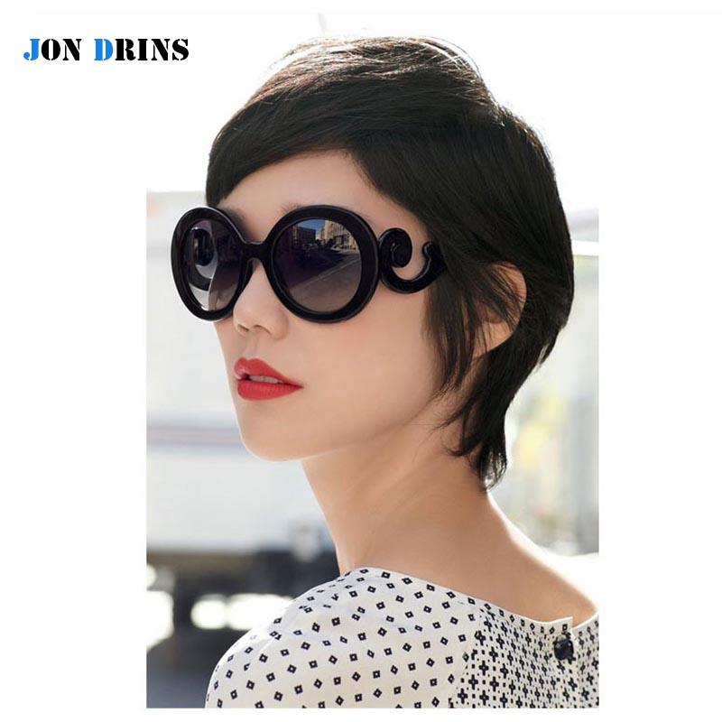 Fashion Show Baroque Sunglasses Butterfly Round Woman Sun glasses Luxury Brand Logo Waves Shades Mirror Retro oculos de UV 400(China (Mainland))